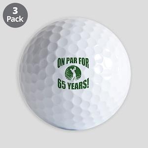 Golfer's 65th Birthday Golf Balls
