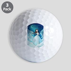 Girl with Moon and Violin Golf Ball