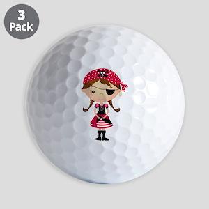 Pirate Girl in Red Golf Balls