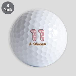 11th Birthday Dots Golf Balls