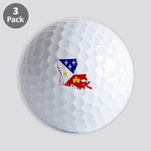 Acadiana State of Louisiana Golf Balls
