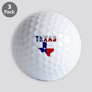 Flag Map With Texas Golf Balls