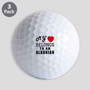 I Love Albanian Golf Balls