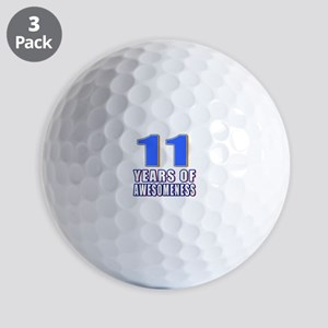 11 Years Of Awesomeness Golf Balls