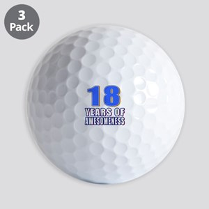 18 Years Of Awesomeness Golf Balls