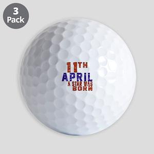 11 April A Star Was Born Golf Balls