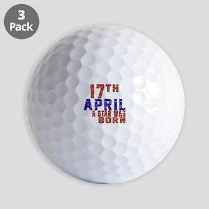 17 April A Star Was Born Golf Balls
