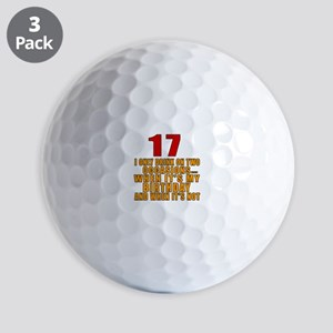 17 birthday Designs Golf Balls