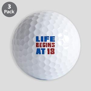 Life Begins At 18 Golf Balls