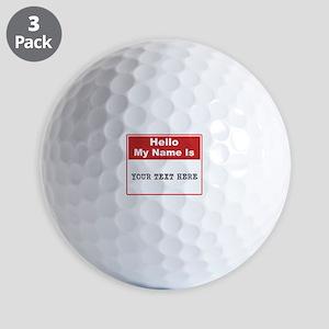Custom Name Tag Golf Balls