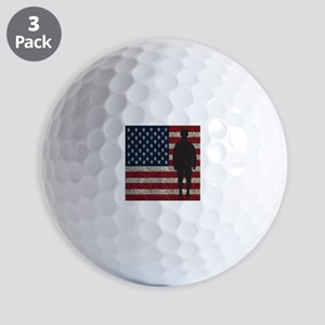 Usflag Soldier Ball Golf Balls