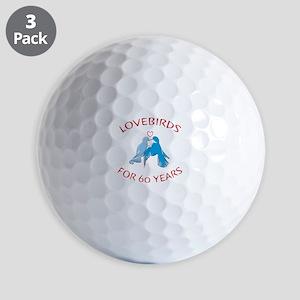 60th Anniversary Lovebirds Golf Balls