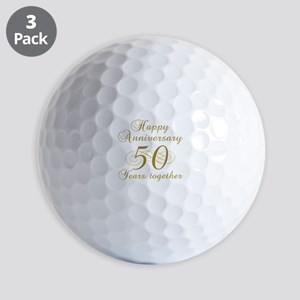 50th Anniversary (Gold Script) Golf Balls