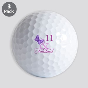 Fabulous 11th Birthday Golf Balls