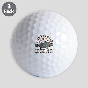 Fishing legend Striped Bass Golf Balls