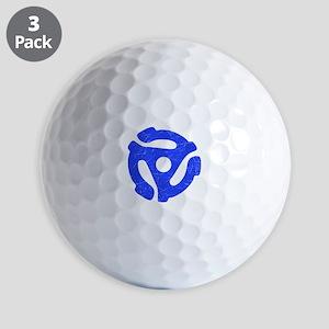 Blue Distressed 45 RPM Adapter Golf Balls