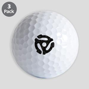 Black Distressed 45 RPM Adapter Golf Balls