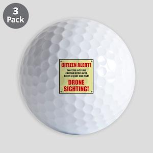 Citizen Alert! Drone Sighting! Golf Balls
