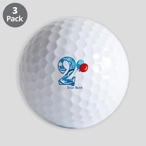 2nd Birthday Personalized Golf Balls