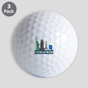 New York City Skyline Golf Ball