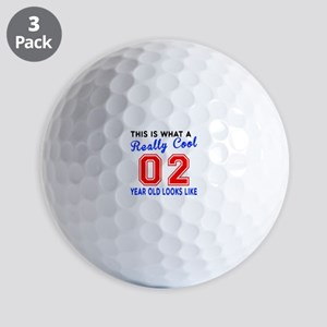 Really Cool 02 Birthday Designs Golf Balls