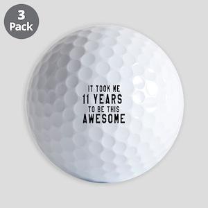 11 Years Birthday Designs Golf Balls