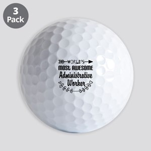 World's Most Awesome Administrative Wor Golf Balls