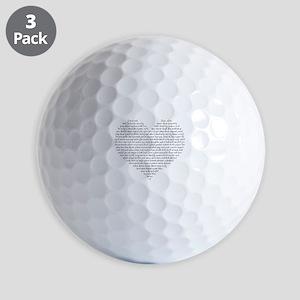 Verb Heart Golf Balls