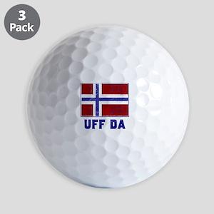 Uff Da Norway Flag Golf Balls
