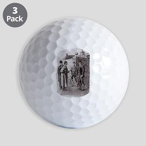 Skerock Holmes illustrations Golf Ball