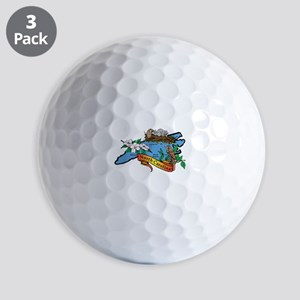 North Carolina Map Golf Balls