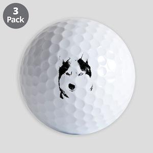 Husky Bi-Eye Husky Dog Golf Balls