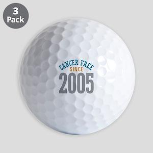Cancer Free Since 2005 Golf Balls