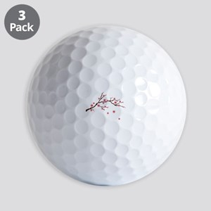 Cherry Blossom Flowers Branch Golf Ball