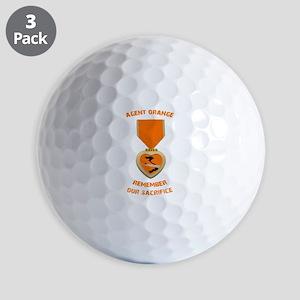 Agent Orange Golf Balls