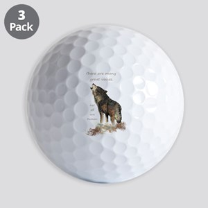 Many Great Voices Inspirational Wolf Quote Golf Ba