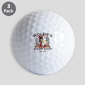 Wolfies Speed Shop Black Golf Ball