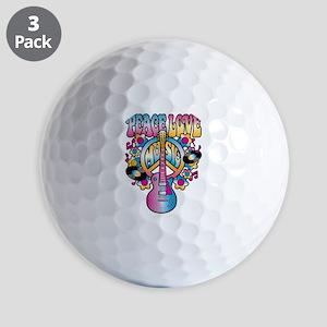 Peace Love & Music Golf Ball