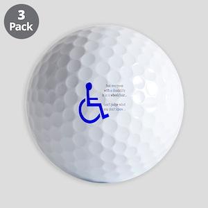 Disability Message Golf Balls