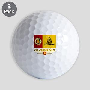 Alabama Gadsden Flag Golf Ball