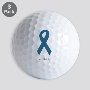 Fear Nothing. Teal Rib Golf Balls