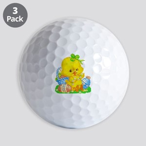 Vintage Cute Easter Duckling And Egg B Golf Balls