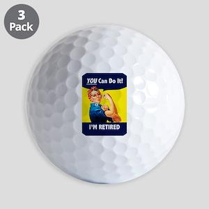 Rosie The Retired Riveter Golf Balls