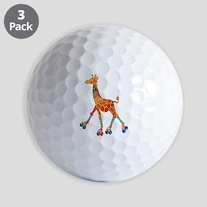Roller Skating Giraffe Golf Balls