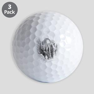 Wintry Mountain Portrait Golf Balls