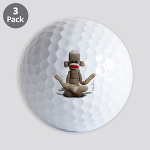 Zen Sock Monkey Golf Balls