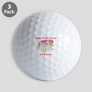 Ancient Psychic Tandem War Elephant Golf Balls