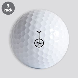 Black Unicycle Golf Ball
