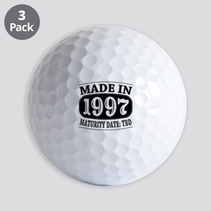 Made in 1997 - Maturity Date TDB Golf Balls