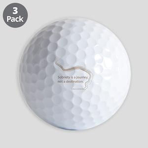 sobriety is a journey Golf Balls